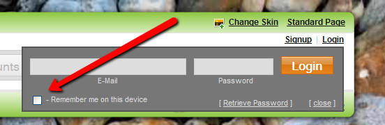 auto login - remember me on this devoce