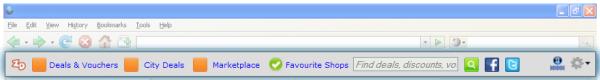 ZealDeal Toolbar screenshot